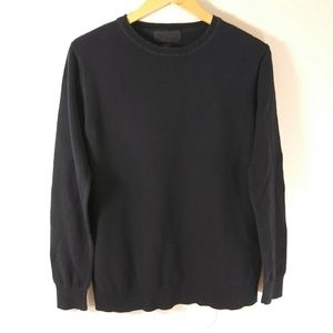 21 Men Round neck Long Sleeve Black Sweater